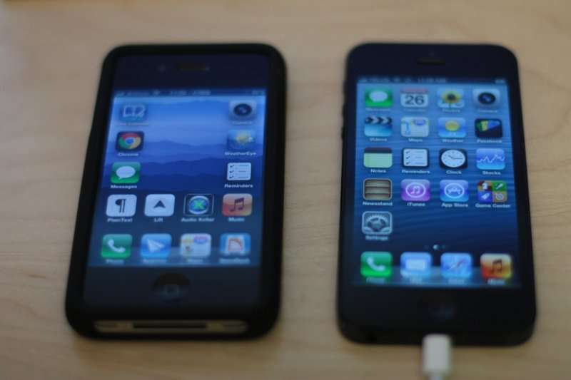 Comparison of iPhone 4 to iPhone 5