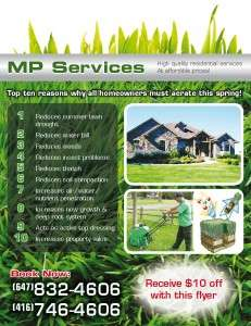 MP Services (flyer front)