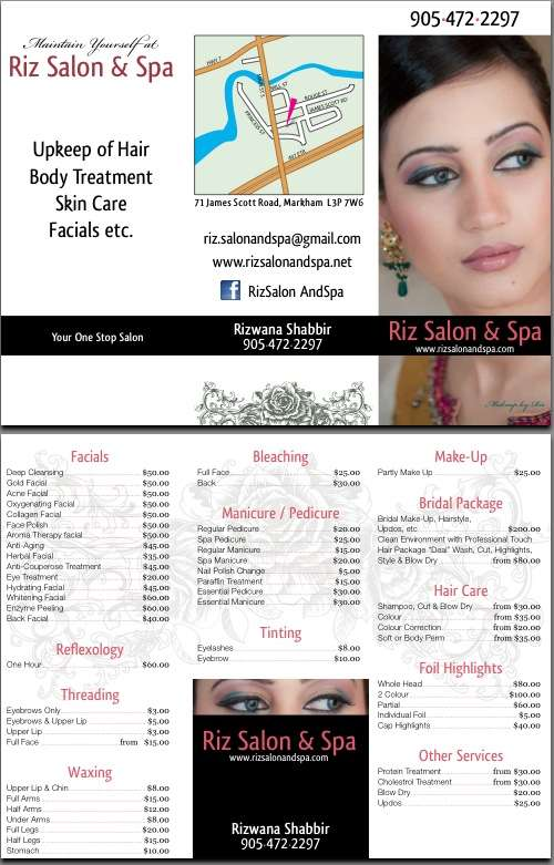 Riz Salon & Spa Flyer Design
