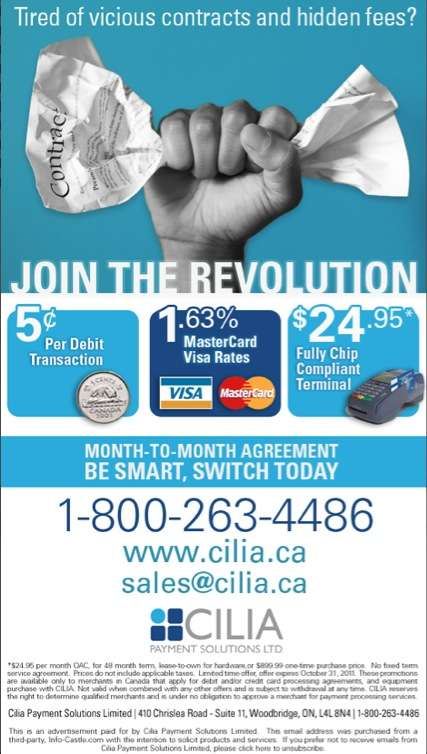 Cilia Payment Solutions Newsletter
