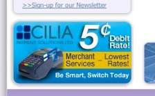 Web advertisement for Cilia Payment Solutions