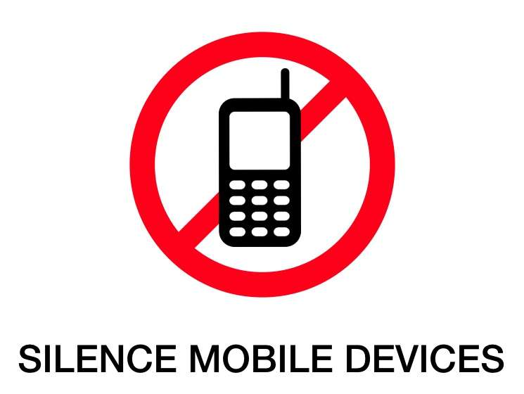 Silence Mobile Devices [Signage]
