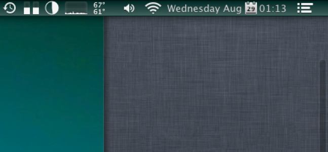 Hide Mountain Lion's Notification Center & Spotlight Icons